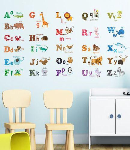Animal Friends Alphabet Wall Stickers