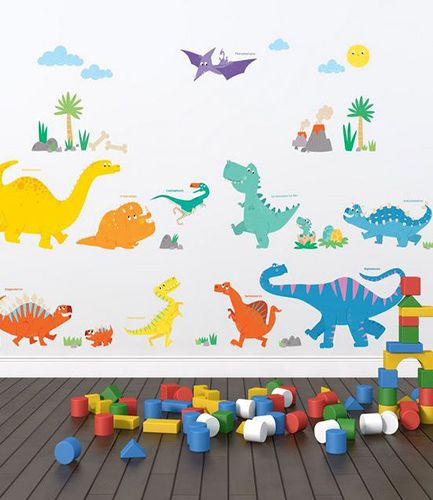 Colourful Dinosaurs Wall Stickers