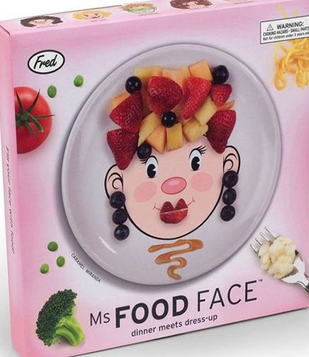 Fred Ms Food Face Dinner Plate