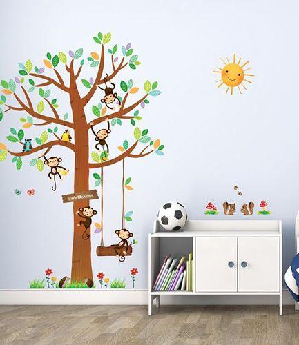 5 Little Monkeys Tree Wall Sticker
