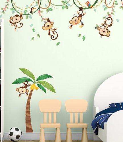 Monkey on vine Wall Sticker