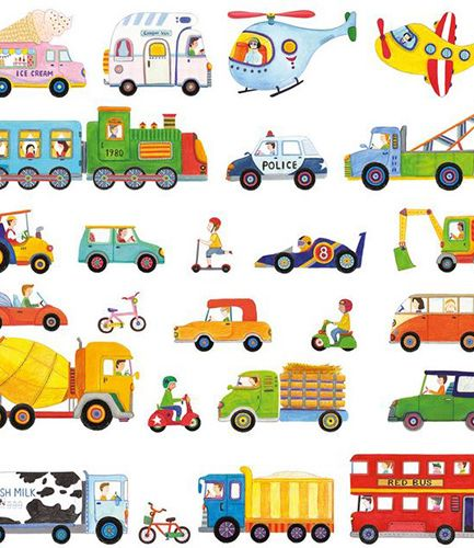 Transport Vehicles Wall Stickers