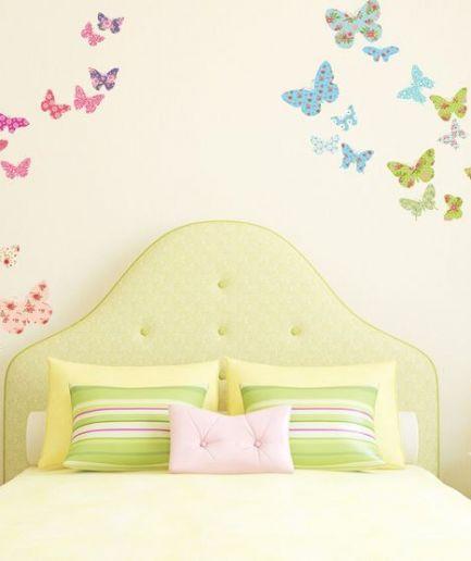 Patterned Butterflies Wall Stickers