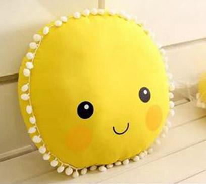 Cute Sun Smiley Pillow