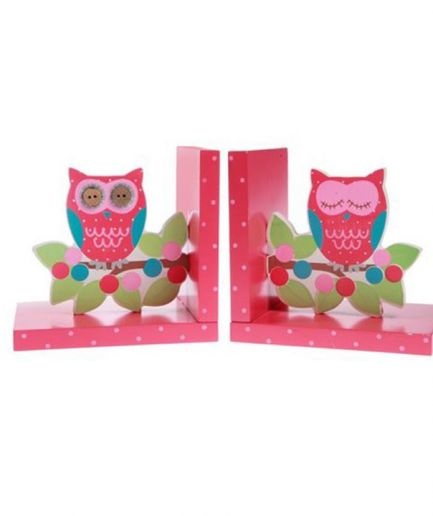 Owl and Branch Bookends