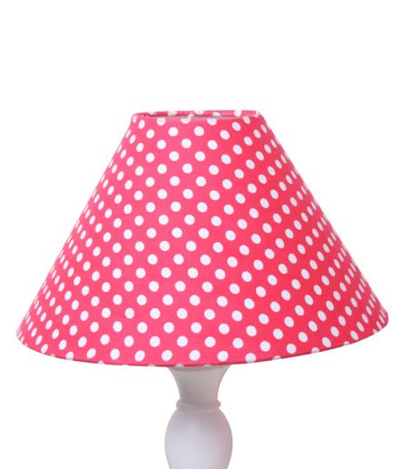 Red Dotty Lampshade