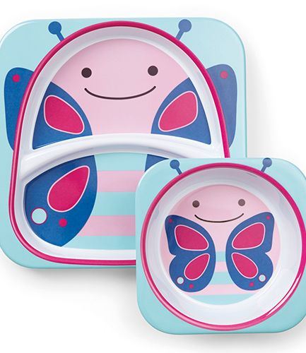 Skip Hop Plate and Bowl Set Butterfly