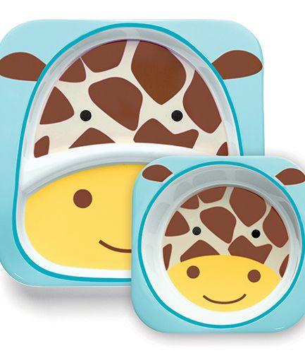 Skip Hop Plate and Bowl Set Giraffe