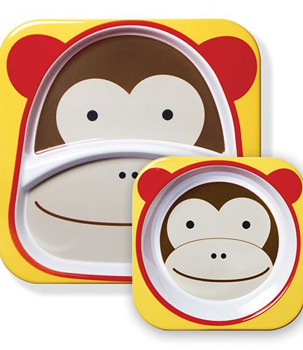 Skip Hop Plate and Bowl Set Monkey