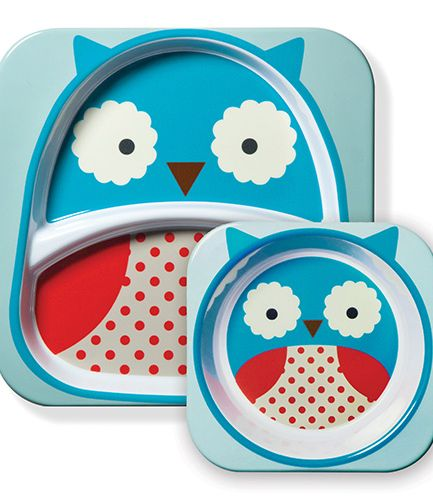 Skip Hop Plate and Bowl Set Owl