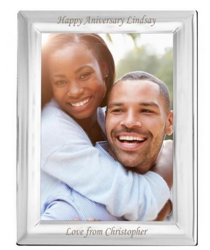 Personalised 5 x 7 Silver Plated Photo Frame