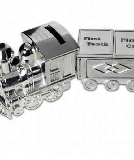 Personalised Train Money Box with Trinket Box