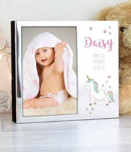 Personalised Unicorn Photo Frame Album 6 x 4