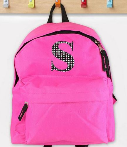 Personalised Initial Star Pink Backpack
