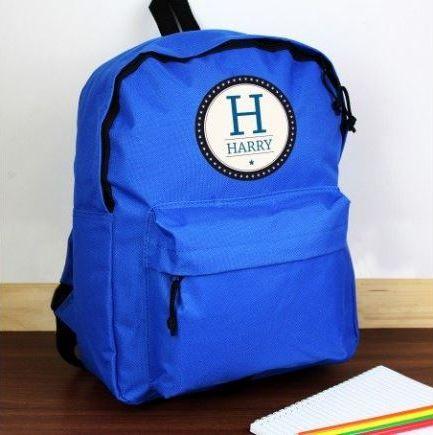 Personalised Star Name Blue Backpack