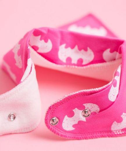 Babyboo Bib Pink Batman