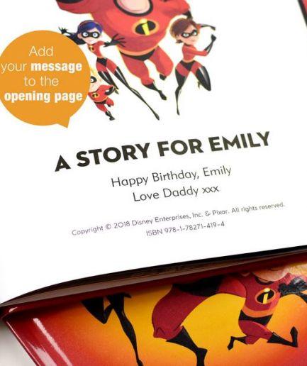 Disney Incredibles 2 Personalised Book