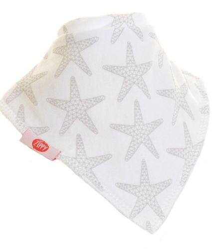 Zippy Baby Unisex Bandana Dribble Bib 4 pack Grey White