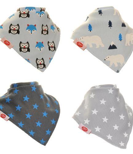 Zippy Baby Boys Bandana Dribble Bib 4 pack Arctic Animals