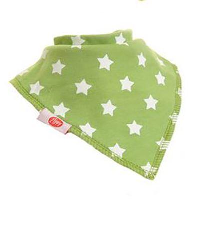 Green with White Stars Bandana Bib