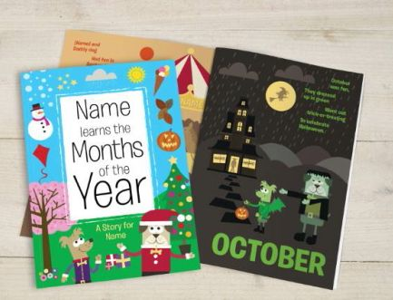 Personalised Learn the Months of the Year Book
