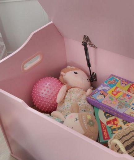 Wooden Toy Box White