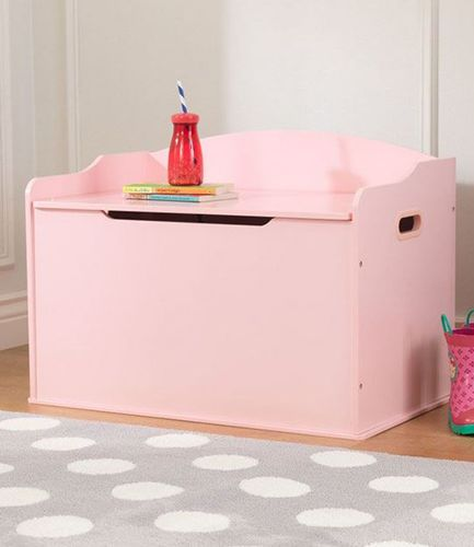 Wooden Toy Box Pink