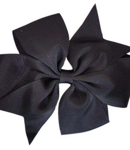 Black Pinwheel Bow Medium