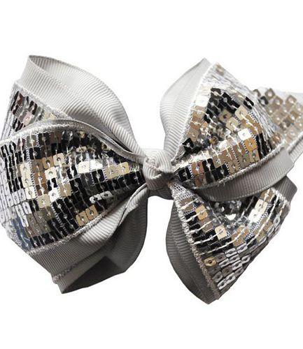 Cheer Bow Silver - Medium