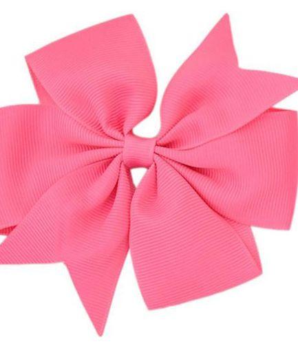 Hot Pink Pinwheel Bow Medium