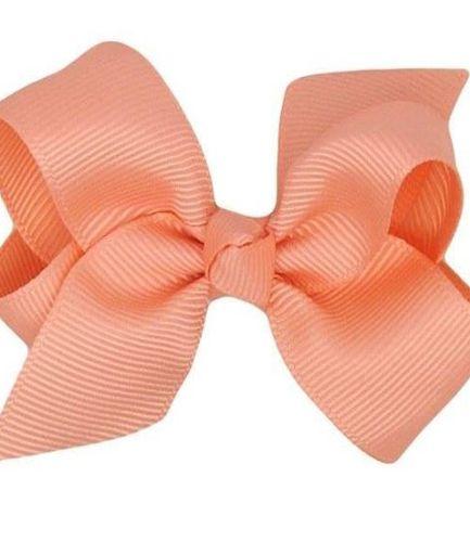 Petal Peach Boutique Bow - medium