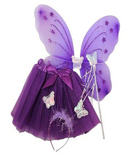 Purple princess Tutu And Wing Set - 3-6 years