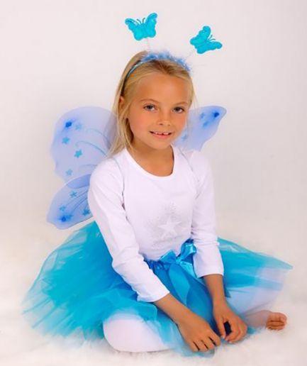 Turquoise Princess Tutu And Wing Set - 3-6 years