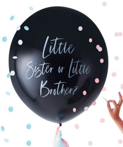Gender Reveal Little Brother or Sister Balloon - Twinkle Twinkle