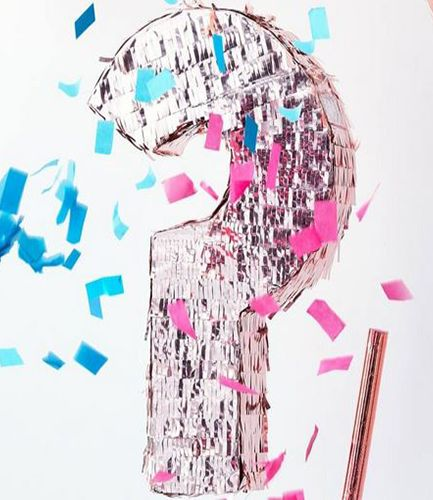 Gender Reveal Rose Gold Pinata - Twinkle Twinkle