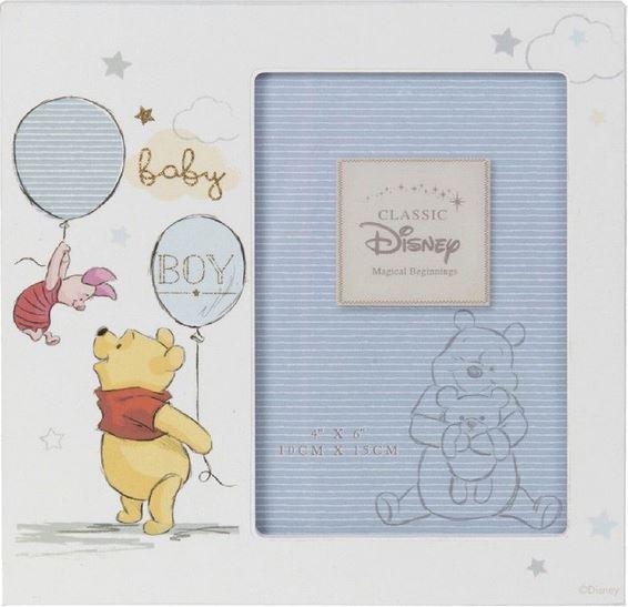 "Disney Magical Beginnings Photo Frame - Pooh Baby Boy 4"" x 6"""