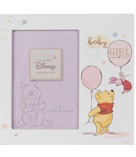 "Disney Magical Beginnings Photo Frame - Pooh Baby Girl 4"" x 6"""