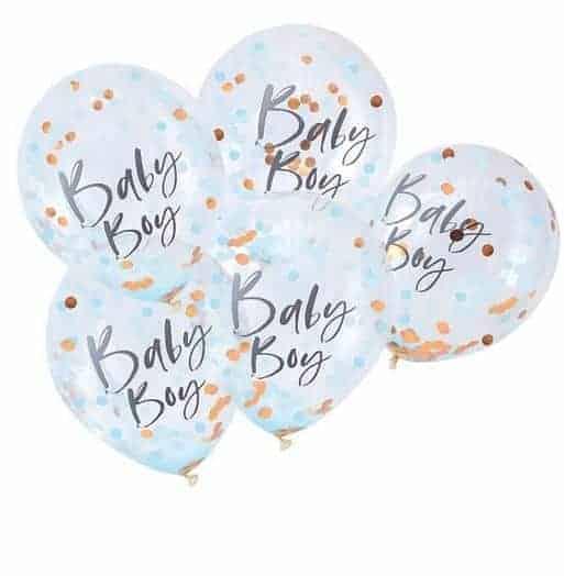Blue Baby Boy Confetti Balloons - Twinkle Twinkle