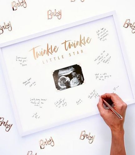 Baby Signing Frame Guest Book - Twinkle Twinkle