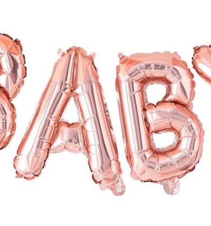 Rose Gold Baby Balloon Bunting Decoration - Twinkle Twinkle