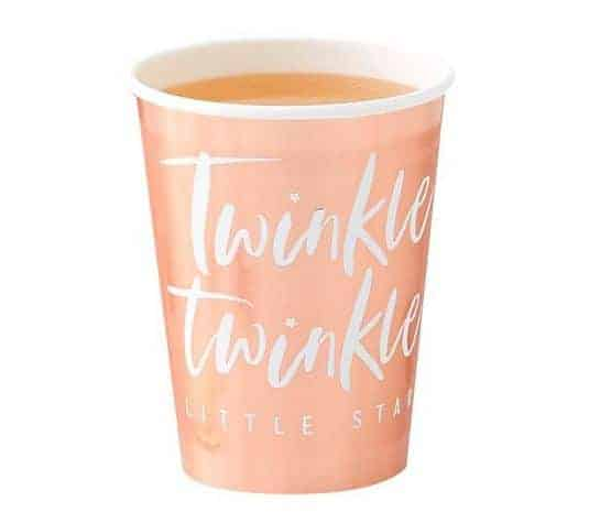Rose Gold Foiled Paper Cups - Twinkle Twinkle