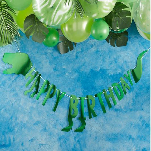 Dinosaur Happy Birthday Party Bunting - Roarsome