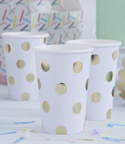 Gold Foiled Polka Dot Paper Cups - Pick and Mix