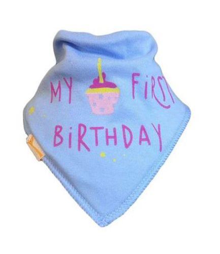 Pale Blue My First Birthday Bib