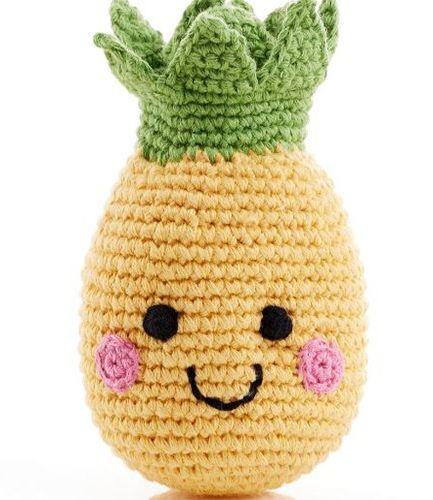 Friendly Fruit Pineapple Crochet Rattle