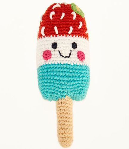 Friendly Ice Lolly Red Rattle