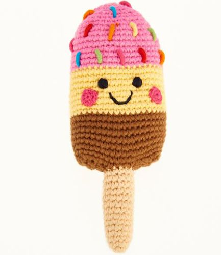 Friendly Ice Lolly Pink Rattle