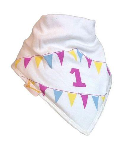 Cream Number 1 Baby Bib