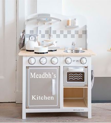 Personalised Kitchen Silver with Accessories