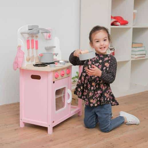 Personalised Kitchen Pink with Accessories